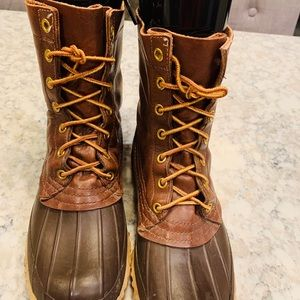LL Brean Brown on Brown Boots Size 7